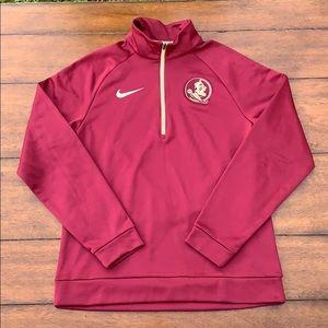FSU Men's 1/4 Sweatshirt Size M